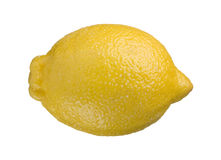 One whole lemon isolated on white background Stock Image