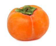 One whole persimmon (isolated) Royalty Free Stock Photography