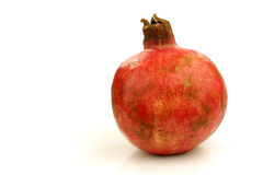 One whole pomegranate(Punica granatum) Stock Photo
