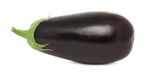 One whole ripe eggplant (isolated) Stock Image
