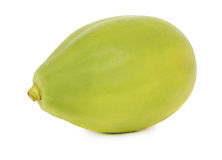 One whole ripe papaya (isolated) Stock Photos