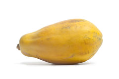 One whole single papaya fruit Royalty Free Stock Photos