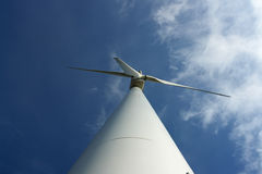 One wind turbine. Stock Images