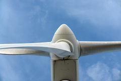 One wind turbine. Royalty Free Stock Image