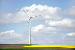 One wind turbine Royalty Free Stock Image