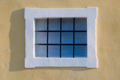 One window. One ornamental classic style window and wall Stock Photography