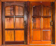 One window of old wooden house Stock Image