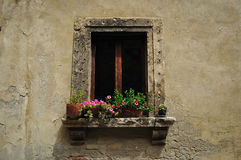 One window  in Siena Tuscany Royalty Free Stock Image