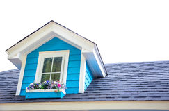 One window at top of wooden house Royalty Free Stock Photography