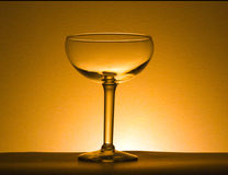 One wine glass Stock Images