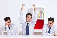 One winner and two loosers Royalty Free Stock Image