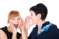 One woman said softly in his ear the other Stock Images