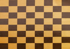 One wooden empty chessboard Royalty Free Stock Photo