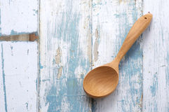 One wooden spoon Royalty Free Stock Photo