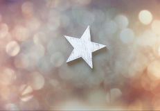 One wooden star Royalty Free Stock Photography