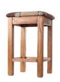 One wooden stool Stock Images