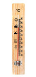 One Wooden Thermometer Royalty Free Stock Photos