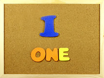 One word on a corkboard Stock Images