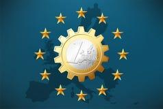 One working Euro Royalty Free Stock Photo