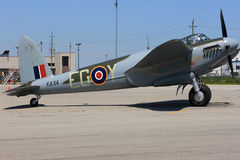 Only one in the world flying De Havilland DH.98 Mosquito ready for demo flight Stock Photography