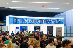 ONE  WORLD OBSERVATORY grand opening day Royalty Free Stock Images