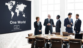 One World Peace Connection Relationship Interconnection Concept Royalty Free Stock Image
