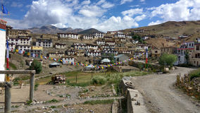 One of the world's highest villages. Kibber village is 4200 meters high and located in the cold desert of the Tibetan region in the Himalayas Royalty Free Stock Photos