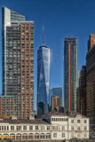 One World Trade center. Amidst buildings Stock Photography