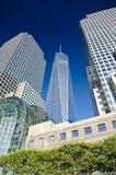 One world trade center building. New York City - One World Trade Center skyscraper on in New York Stock Image