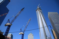 One World Trade Center Construction Royalty Free Stock Photos