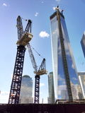 One World Trade Center construction Royalty Free Stock Photo