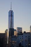 One world trade center at dusk Stock Photo