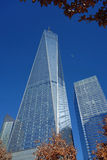 One World Trade Center with Airplane Royalty Free Stock Images