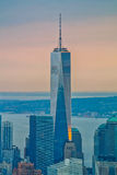 One World Trade Center. At sunset Royalty Free Stock Photos