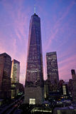 One World Trade Center at sunset Stock Photo