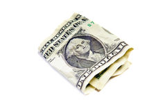 One wrinkled dollar Royalty Free Stock Photography