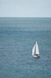 One yacht ocean Stock Image