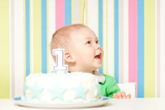 One year baby birthday party. This image has attached release Stock Photography