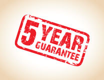 Guarantee stamp. A one year guarantee stamp Stock Photography