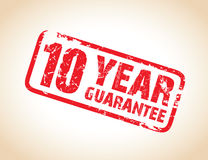 Guarantee stamp. A one year guarantee stamp vector illustration