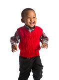 One Year Old Adorable African American Boy Portrait on Isolated Stock Image