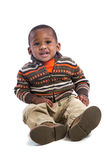 One Year Old Adorable African American Boy Portrait on Isolated Royalty Free Stock Image