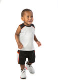 One Year Old Adorable African American Boy Portrait on Isolated Stock Photo
