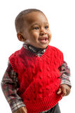 One Year Old Adorable African American Boy Portrait on Isolated Stock Images