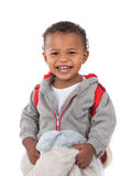 One Year Old Adorable African American Boy Portrait Stock Photo
