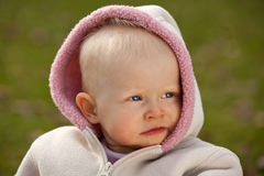One year old baby girl Royalty Free Stock Image