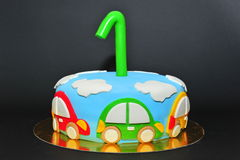 One year old birhtday celebration cake Royalty Free Stock Image