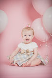 One Year Old Birthday Portraits Stock Image