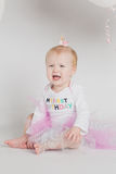 One Year Old Birthday Portraits Crying Royalty Free Stock Photography