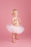 One Year Old Girl Wearing a Pink Tutu Royalty Free Stock Photography